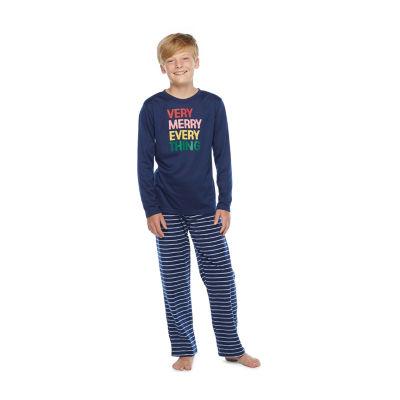 North Pole Trading Co. Very Merry Little & Big Unisex Christmas Pajama Set 2-pc.