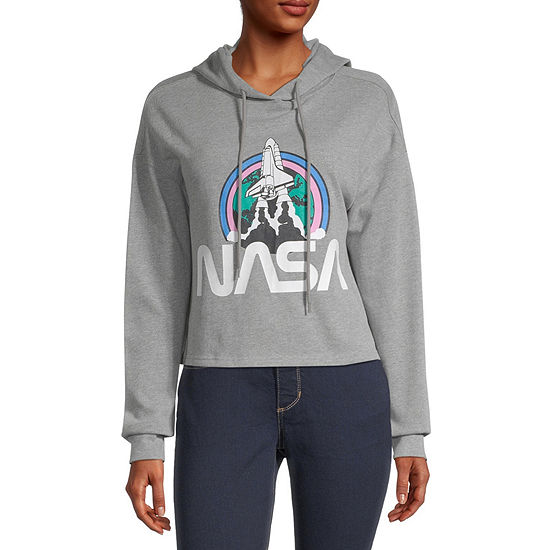 Juniors Womens Long Sleeve Fleece Hoodie