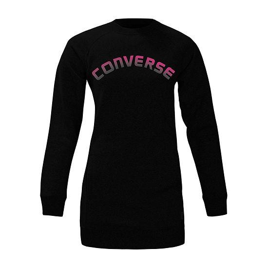 Converse Big Girls Long Sleeve Shirt Dress