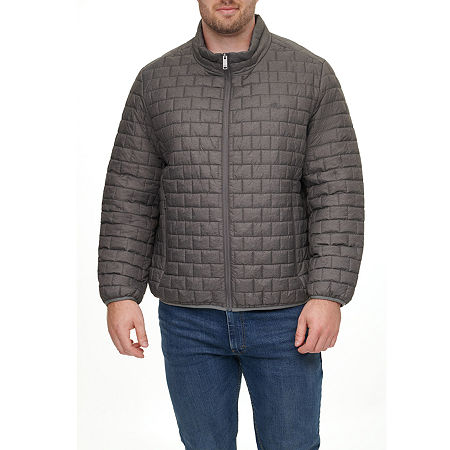 Dockers Wind Resistant Water Resistant Midweight Puffer Jacket - Big and Tall, 3x-large , Gray