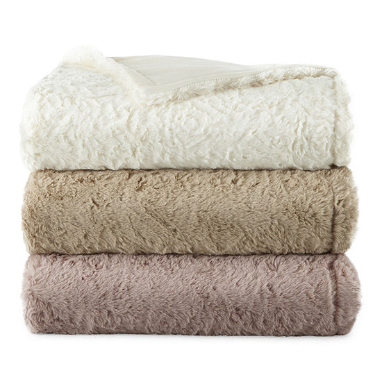 Home Expressions Faux Fur Throw