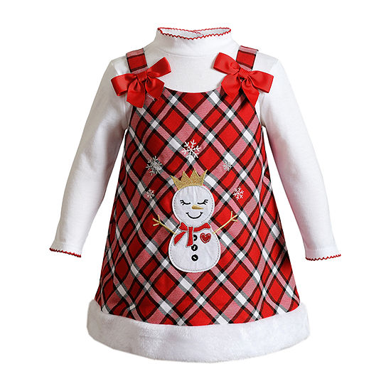 Youngland Baby Girls 2-pc. Sleeveless A-Line Dress