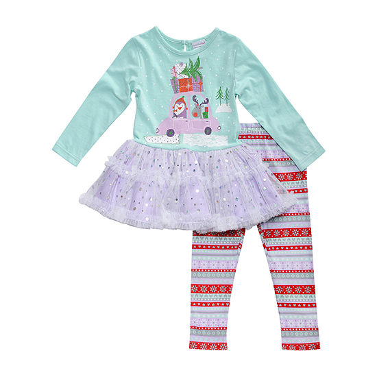 Youngland Baby Girls 2-pc. Legging Set