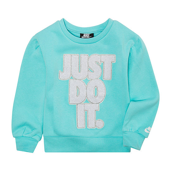 Nike Toddler Girls Round Neck Long Sleeve Sweatshirt