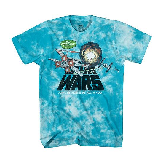 Disney Little & Big Boys Crew Neck Star Wars Short Sleeve Graphic T-Shirt