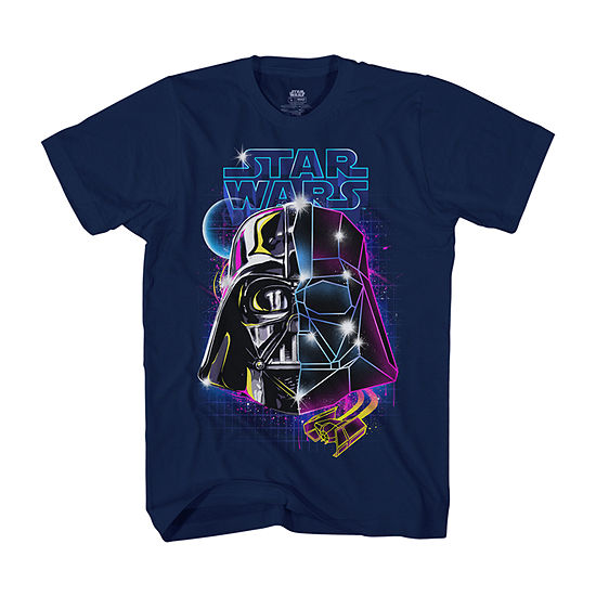 Disney Little & Big Boys Crew Neck Star Wars Short Sleeve Graphic T-Shirt