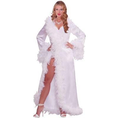 Vintage Hollywood Marabou Satin Robe Adult Costume