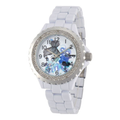 Disney Womens Tinker Bell White Enamel Watch