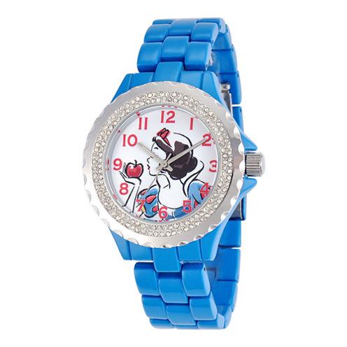 Disney Womens Snow White Blue Enamel Watch