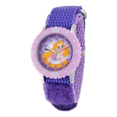 Disney Rapunzel Time Teacher Kids Purple Strap Watch