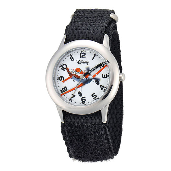 Disney Planes Dusty Crophopper Time Teacher Kids Black Strap Watch