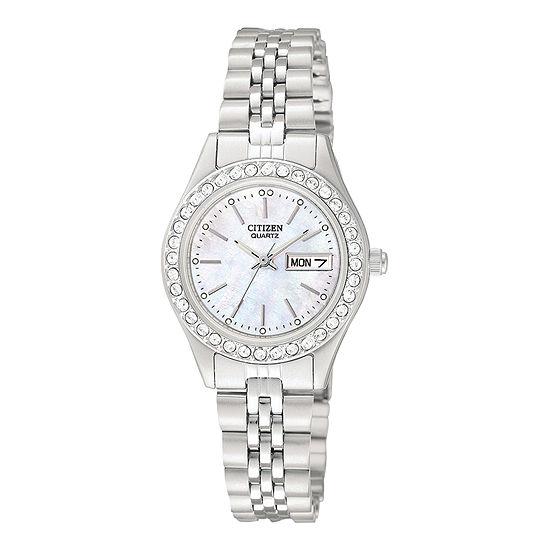 Citizen Quartz Womens Silver Tone Stainless Steel Bracelet Watch-Eq0530-51d