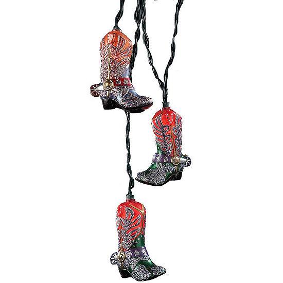 Kurt Adler 10-Light Glitter Boots Indoor Light Set
