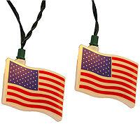 Kurt Adler USA Flag Light Set, One Size , Multiple Colors