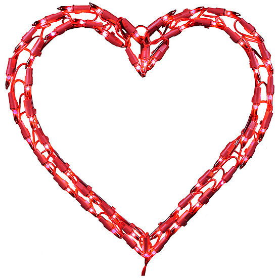 "Kurt Adler 12"" 50-Mini Light Heart Window Decoration"