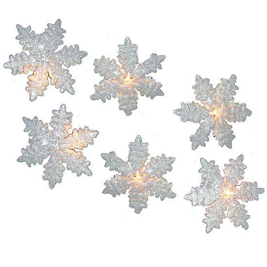 Kurt Adler White Snowflake Light Set