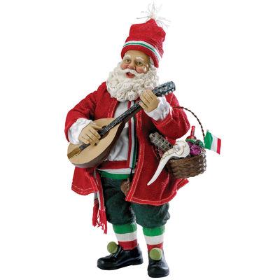 "Kurt Adler 10"" Fabriché™ Musical Italian Santa"