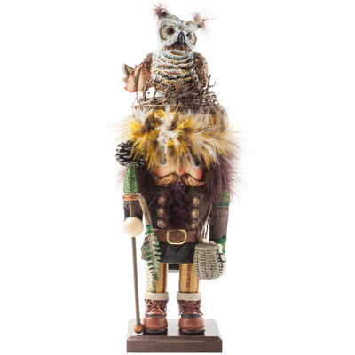 "Kurt Adler 16"" Hollywood™ Woodsman With Owl Hat Nutcracker"