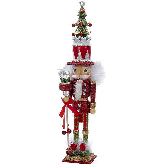 "Kurt Adler 15"" Hollywood™ Red and Green Tree Hat Nutcracker"