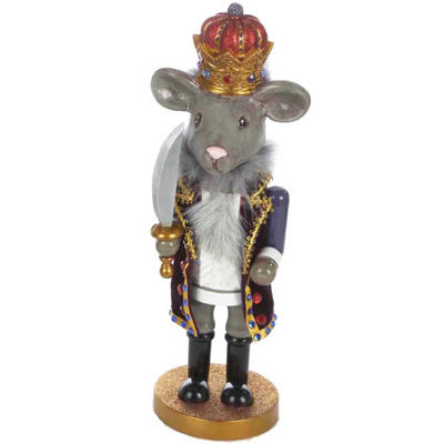 """Kurt Adler 12"""" Hollywood™ Mouse King Nutcracker"""