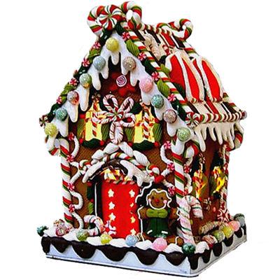 Kurt Adler Claydough Candy Lighted House