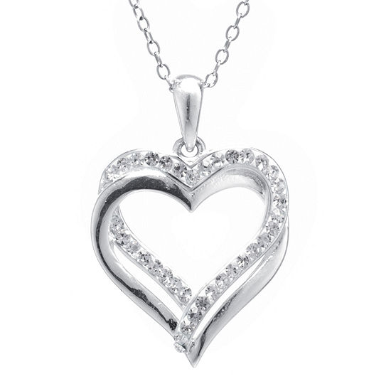 Crystal Sophistication™ Crystal Double Heart Pendant Necklace