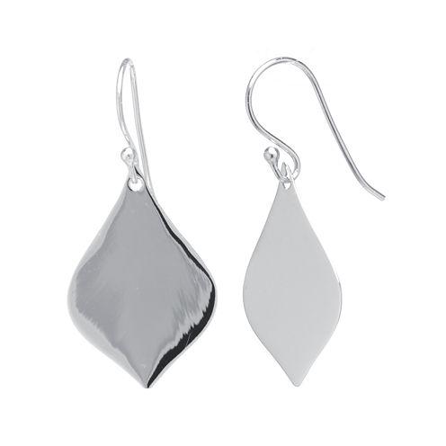Sterling Silver Marquise Drop Earrings