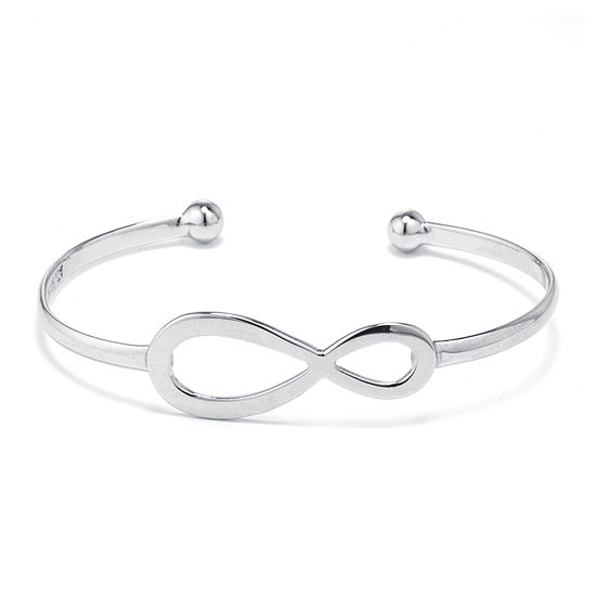 Dazzling Designs™ Silver-Plated Brass Infinity Cuff Bracelet