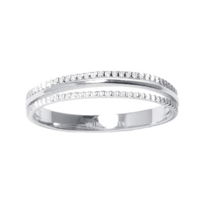 Sterling Silver Triple Row Ring