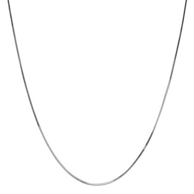 "10K White Gold 16"" Snake Chain Necklace"