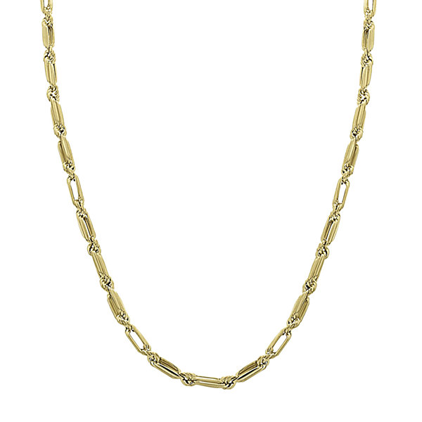 "14K Yellow Gold 18"" Baguette Supreme Hollow Chain Necklace"