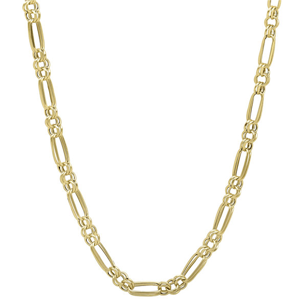 "14K Yellow Gold 18"" Double-Figaro Hollow Chain Necklace"