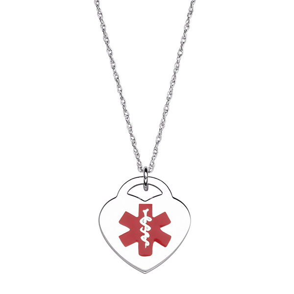 Personalized medical id heart pendant necklace jcpenney personalized medical id heart pendant necklace aloadofball Images