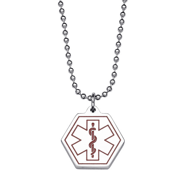 Personalized medical id hexagon pendant necklace jcpenney personalized medical id hexagon pendant necklace aloadofball Images