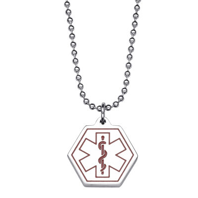 Fine Jewelry Personalized Medical ID Hexagon Pendant Necklace 4WyTsoXb