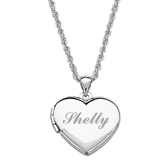 Jcpenney Wedding Gifts: Personalized Girls Heart Locket Pendant Necklace