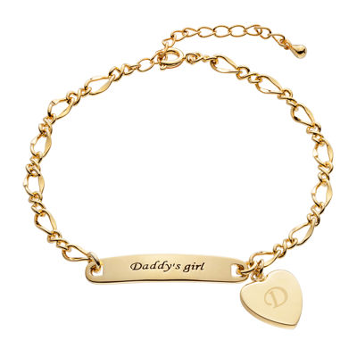 "Personalized Girls ""Daddy's Girl"" Heart ID Bracelet"