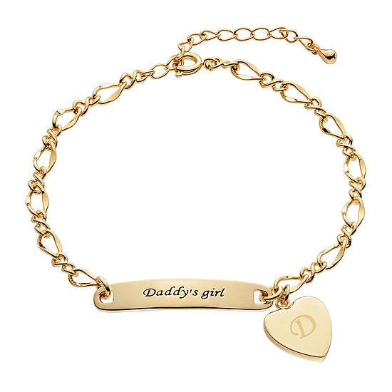 "Personalized Girls ""Daddy's Girl"" Heart ID Bracelet"