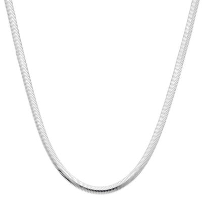 """Made in Italy Sterling Silver 18"""" Diamond-Cut Snake Chain Necklace"""