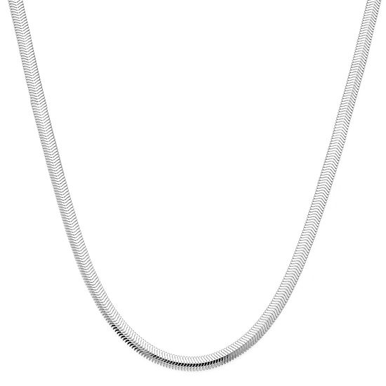 "Made in Italy Sterling Silver 18"" Diamond-Cut Snake Chain Necklace"
