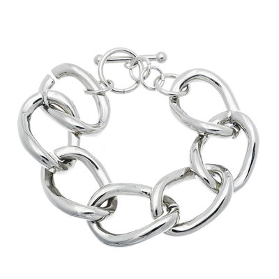 Stainless Steel Large Chain Link Bracelet