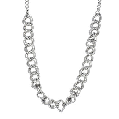 Stainless Steel Double Curb Chain Necklace
