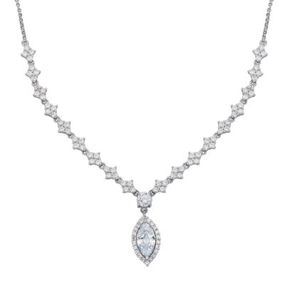 DiamonArt® Cubic Zirconia Sterling Silver Marquise Necklace