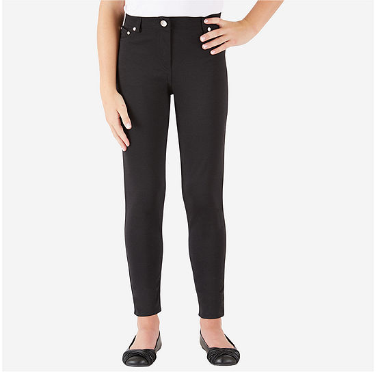 68378abdf by&by Girl Skinny Black Ponte Pants Girls 7 16 JCPenney