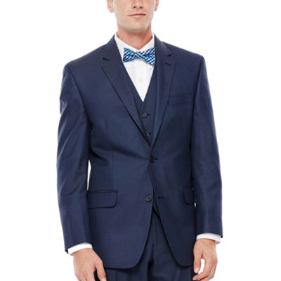 IZOD® Navy Sharkskin Suit Jacket - Classic Fit