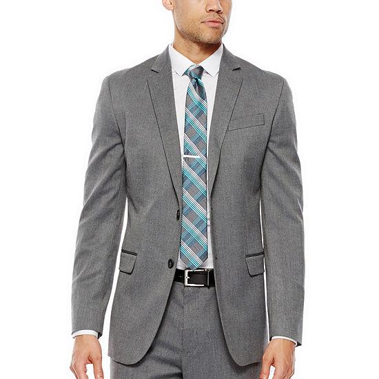 9d0db76643e1e JF J. Ferrar® Gray Herringbone Stretch Suit Jacket - Slim Fit - JCPenney