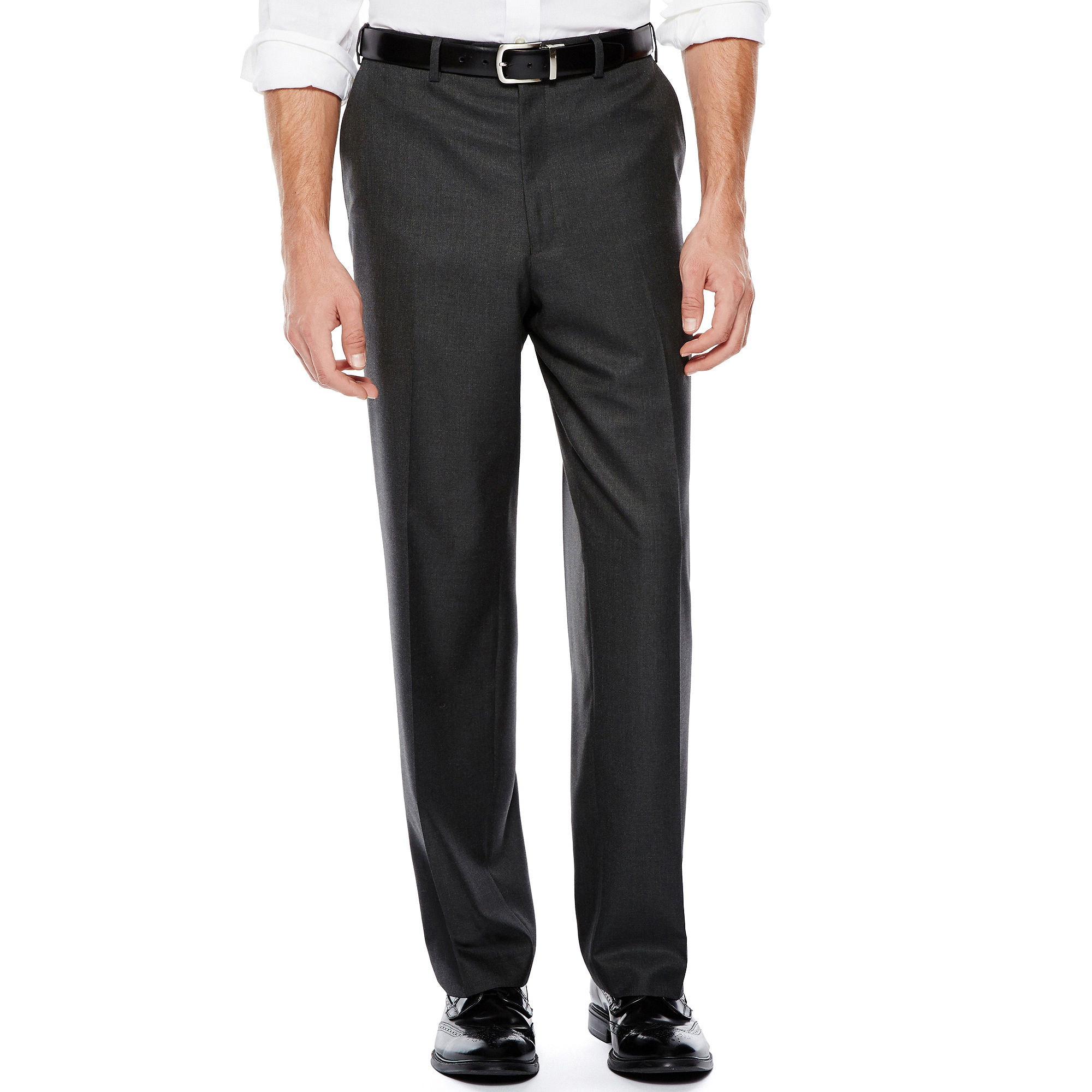 IZOD Gray Sharkskin Flat-Front Suit Pants - Classic Fit plus size,  plus size fashion plus size appare