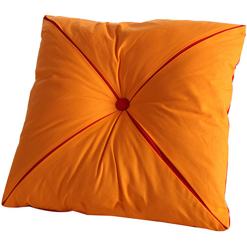 "Fiesta Button Reversible 18"" Square Decorative Pillow"