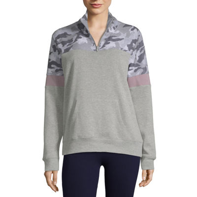 Flirtitude Quarter-Zip Pullover-Juniors