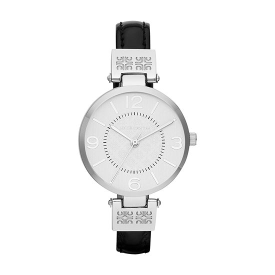 Liz Claiborne Liz Claiborne Womens Black Bracelet Watch-Lc1013t